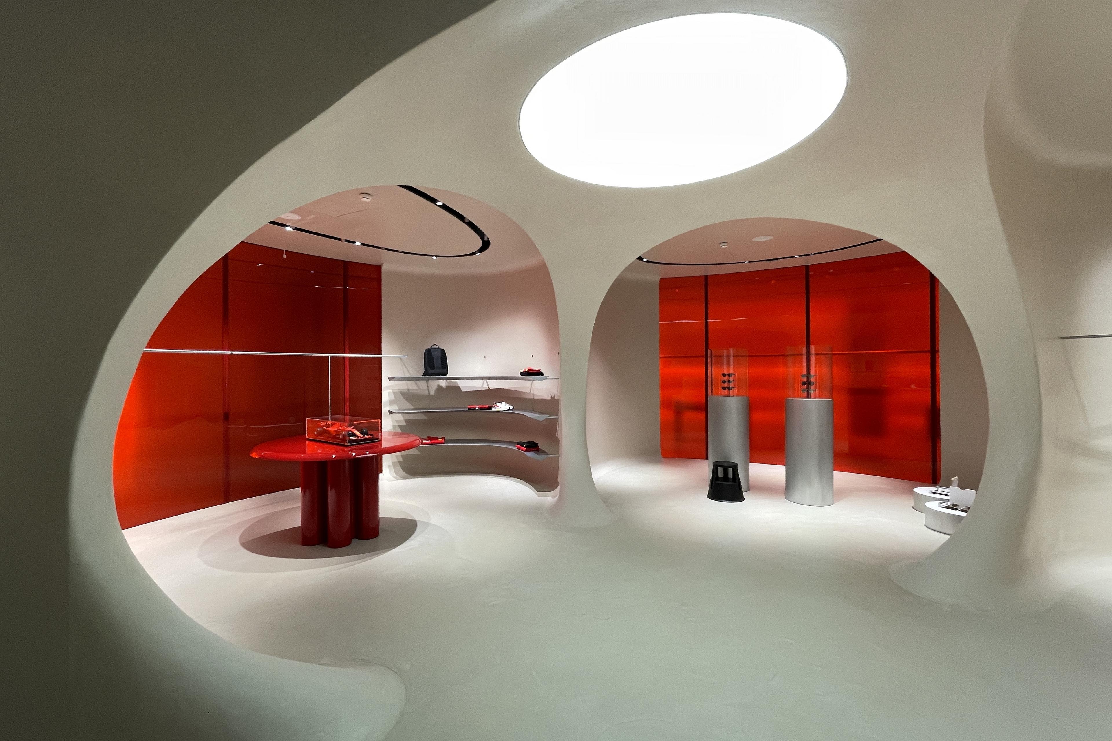 Shop Ferrari Maranello by Sybarite, photo by Matteo Brioni