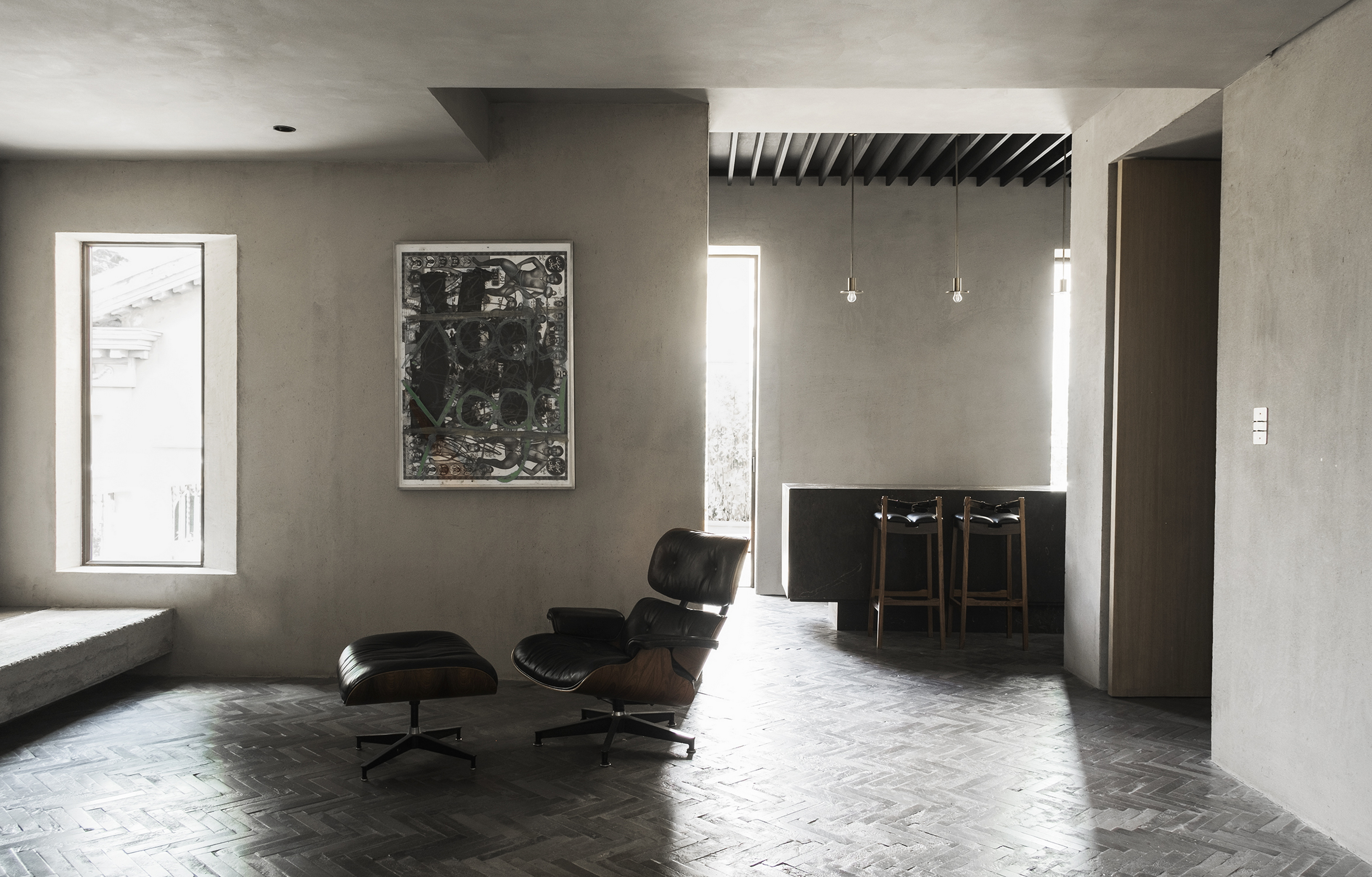 Domus Ru apartment in Rome by MORQ, made with MultiTerra Wabi Sale Grigio, photo by Giulio Aristide