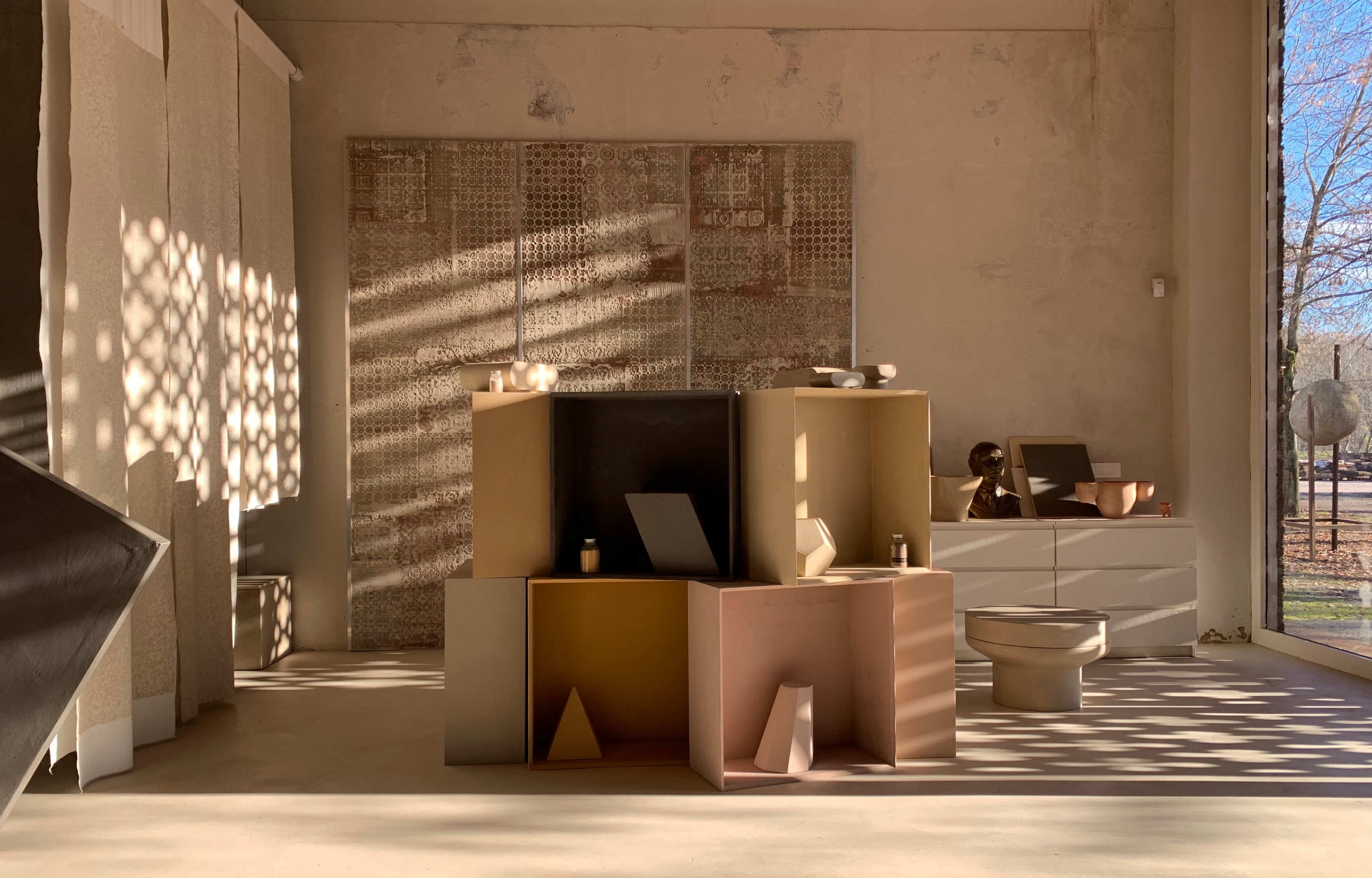 Matteo Brioni headquarter showroom in Ganzaga, Mantua, by Giovanni Bergamaschi, photo by Matteo Brioni